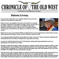 Chronicle of the Old West - Dakota  Livesay's Biography